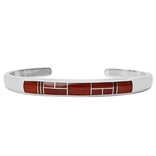 Smooth Sides Silver Inlay Skinny Bracelet