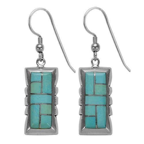 Old Style Navajo Contemporary Inlay Earrings