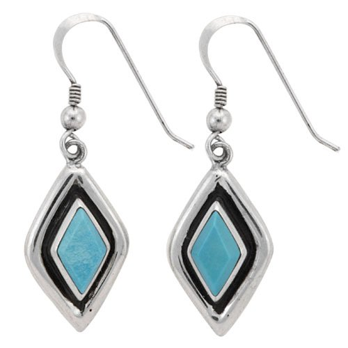 Faux Shadow Box Inlay Earrings