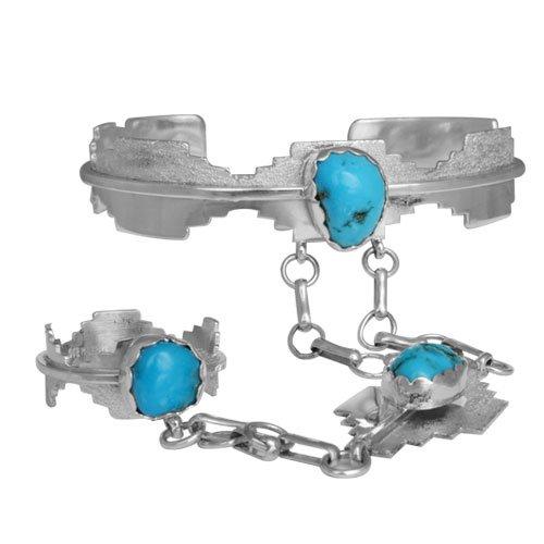 Navajo Sleeping Beauty Slave Bracelet