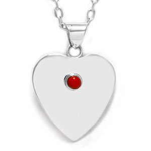 Single Stone Heart Pendant