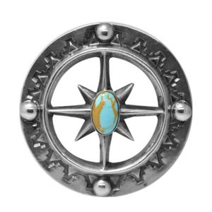 Old Style Cast Turquoise Buckle