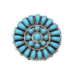 Navajo Turquoise Cluster Brooch