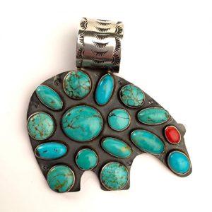 Big Bear Navajo Turquoise Pendant