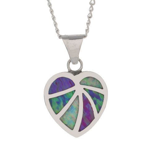Navajo Channel Inlay Heart Necklace