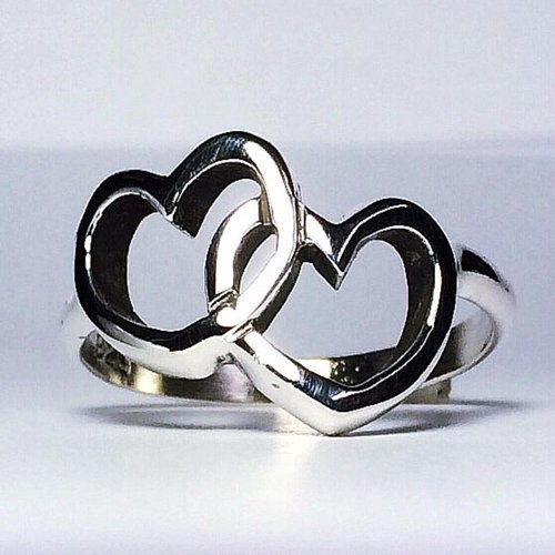 Sterling Silver Heart to Heart Ring