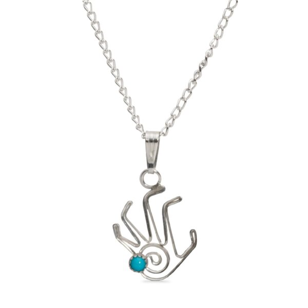 Small Sterling Silver Navajo Life Swirl Necklace