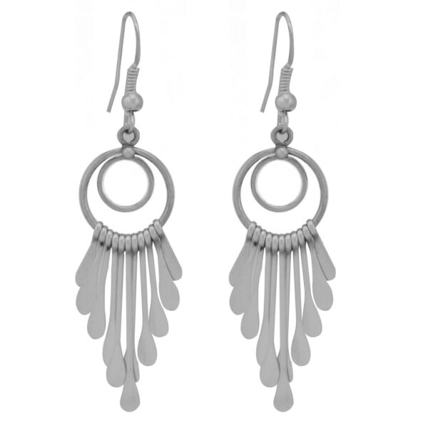 Double Circle Navajo Sterling Silver Earrings
