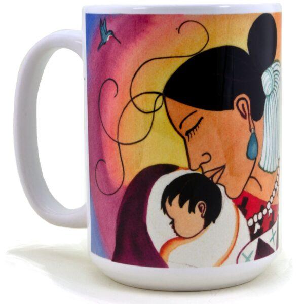 A Navajo Woman Cuddling her Baby Coffee Mug