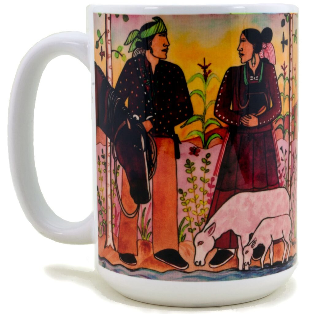 Native American Navajo Newlyweds Coffee Mug