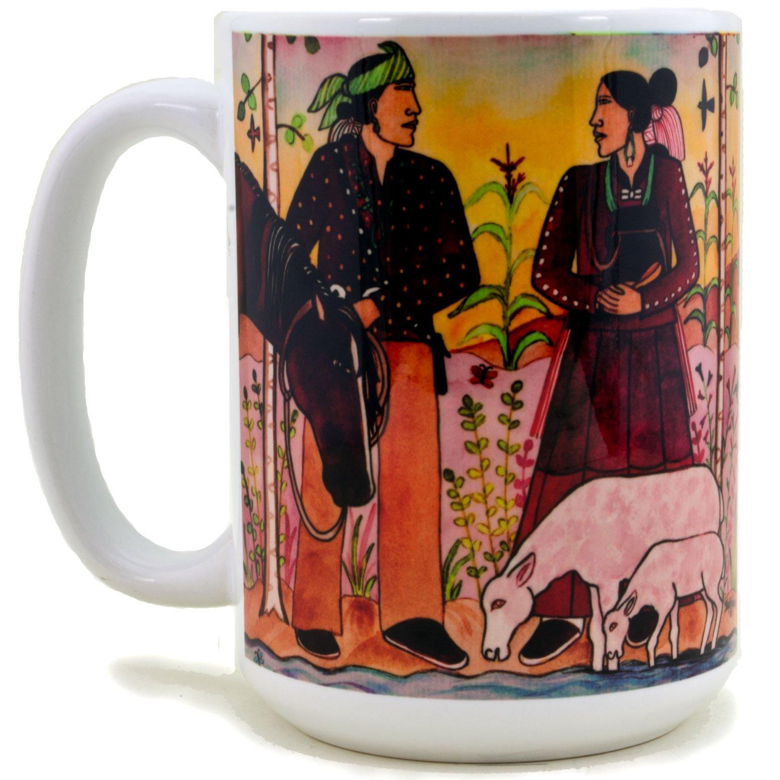 native american navajo newlyweds coffee mug � navajo arts