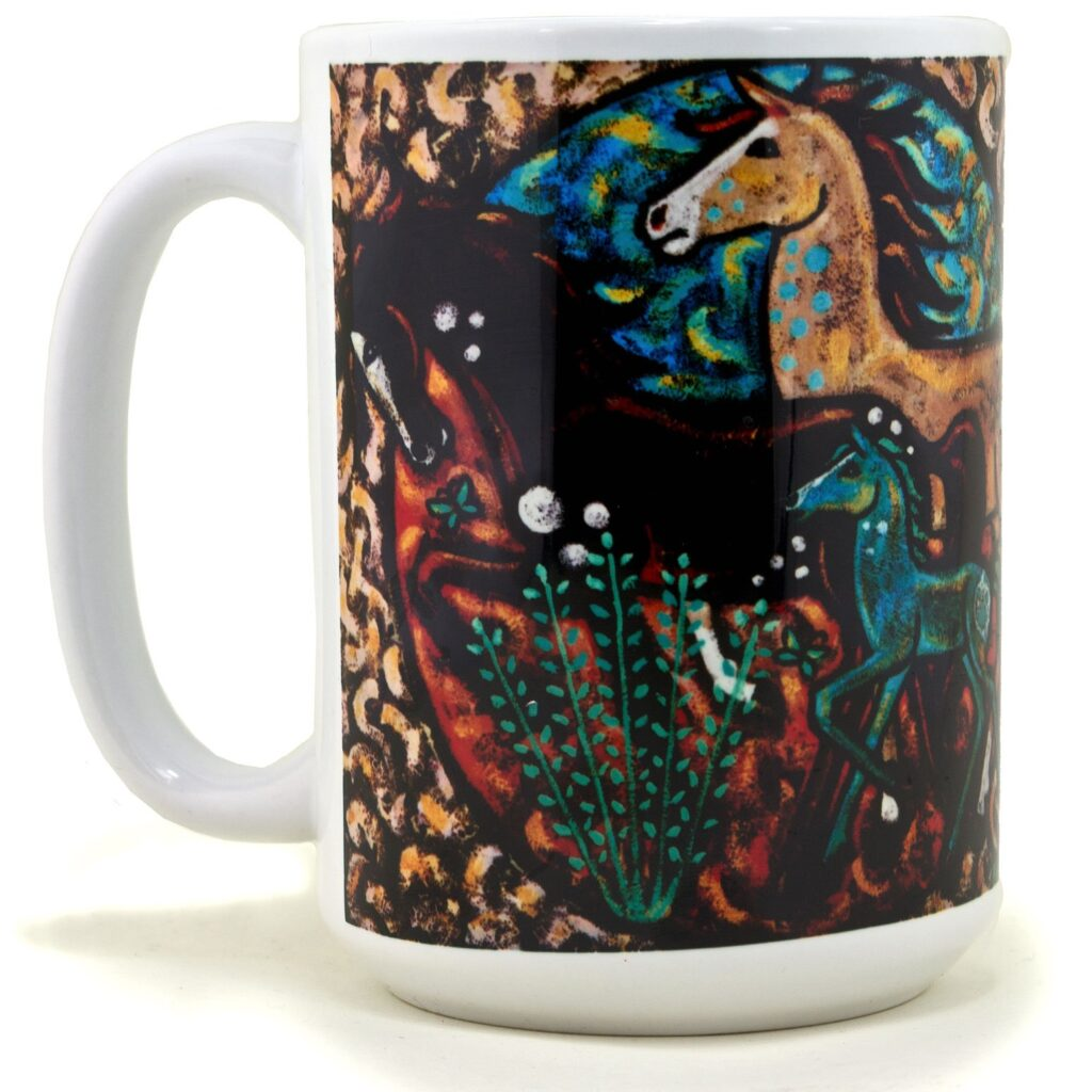 Native American Horse Drawing Coffee Mug