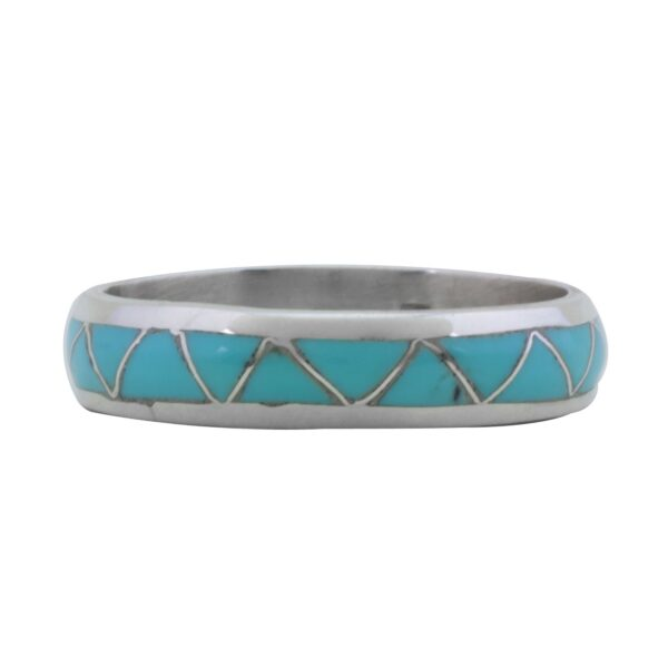 Channel Inlay Turquoise Men's Ring