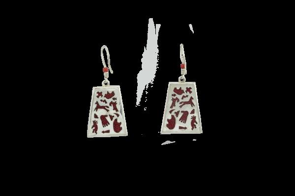 Navajo Petroglyphs Sterling Silver Set
