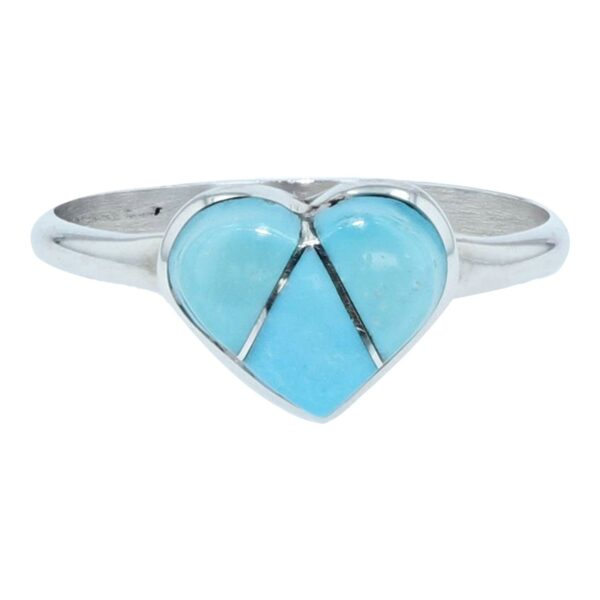 Inlay Sleeping Beauty Turquoise Stone Heart By John W. Cly