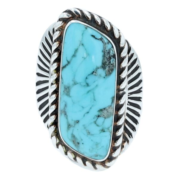 Navajo Oval Turquoise Ring By Howard Begay