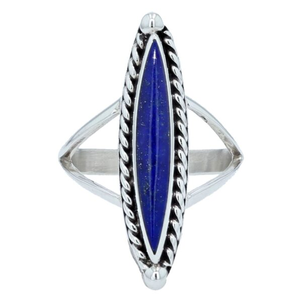 Long Marquise Silver Ring