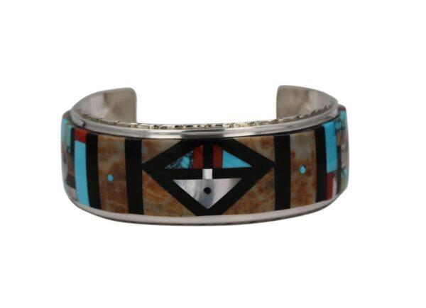 Zuni Sun Face Multi-Stone Inlay Bracelet