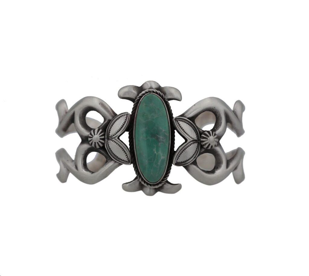 Mexican Turquoise Sand Cast Navajo Bracelet