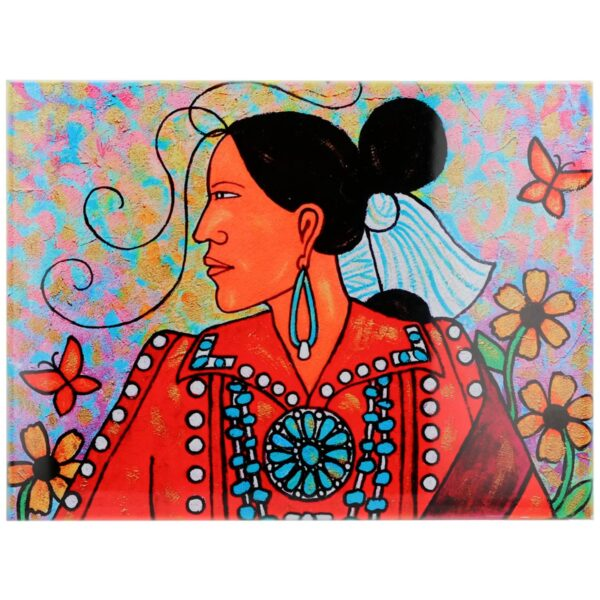 Navajo Woman Ceramic Tile