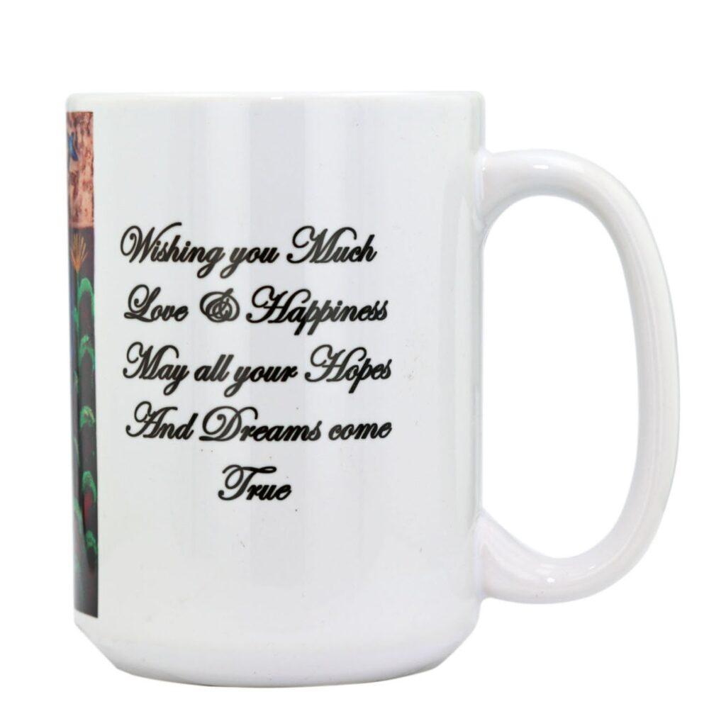 Native American Blue Horse Painting Coffee Mug