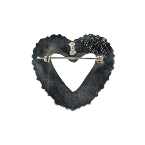 Spiny Oyster Cluster Heart Brooch/Pendant By Tommy Lowe