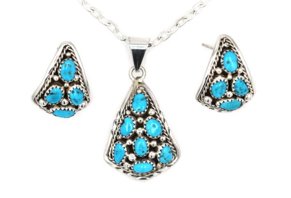 Cluster Teardrops Necklace with Earring Set