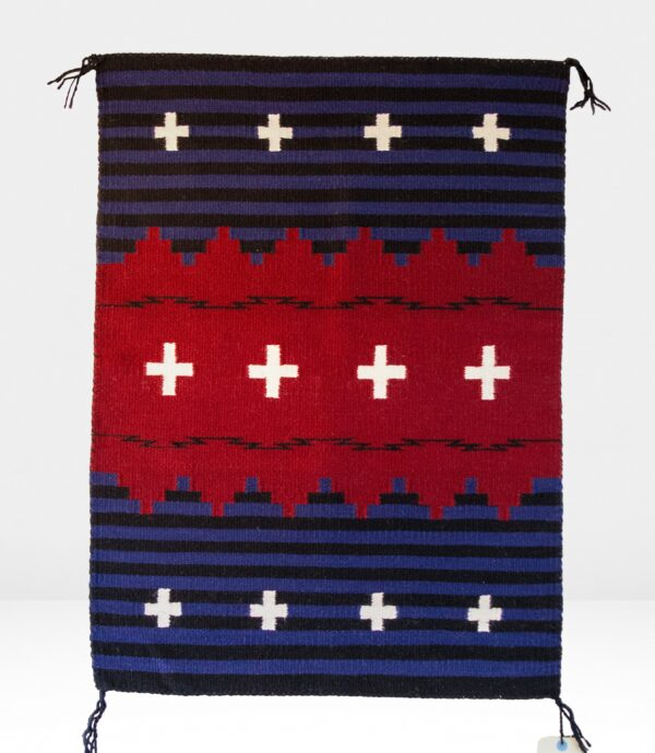 Blue, Red, Black & White Chief Rug
