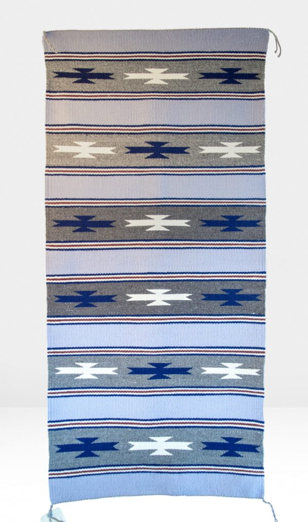 Blue, Grey, White Non-Regional Rug