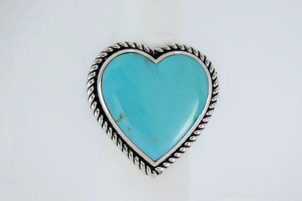 Adjustable Sleeping Beauty Turquoise Navajo Ring