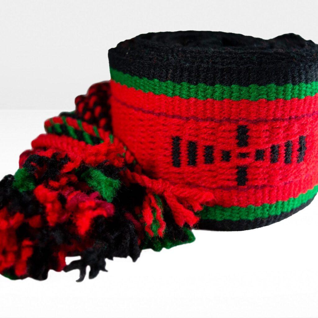 Contemporary Multi-Colored Sash Belt