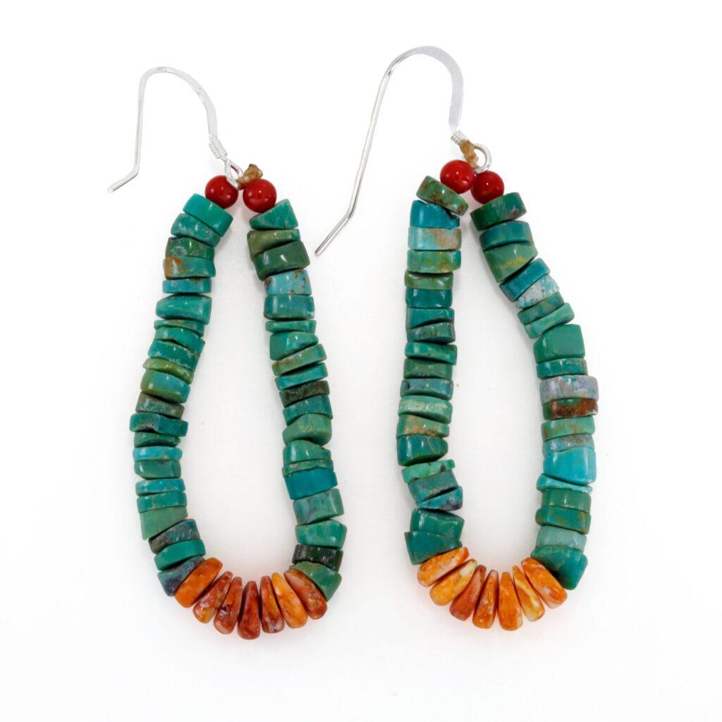 Green Turquoise Jacla Medium Navajo Earrings
