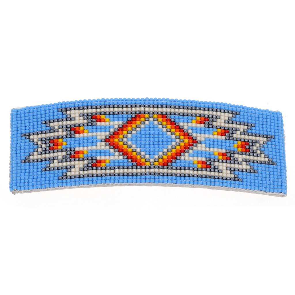Sky Blue Navajo Beaded Rug Hair Barrette