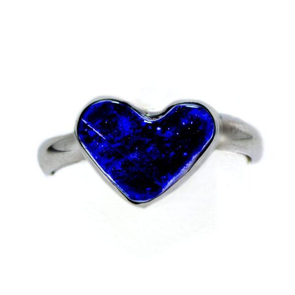 Lapis Heart Shaped Infant Ring