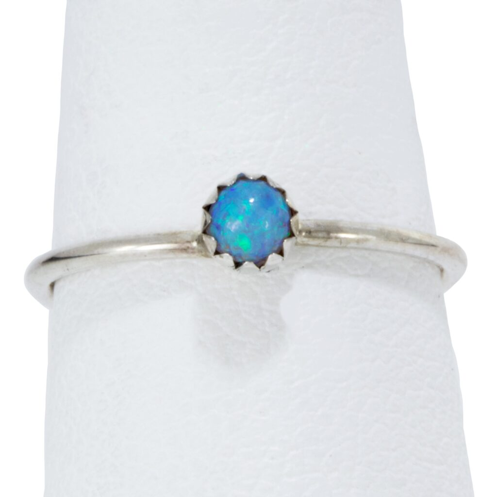 Light Blue Opal Infant Ring