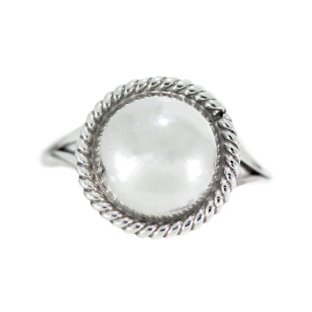 Silver Twist Wire Ring