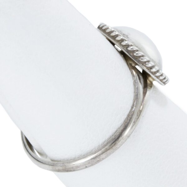 Sterling Silver Ring with a Twist Wire