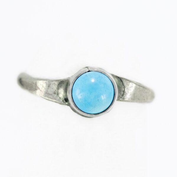 Infant Single Stone Turquoise Ring