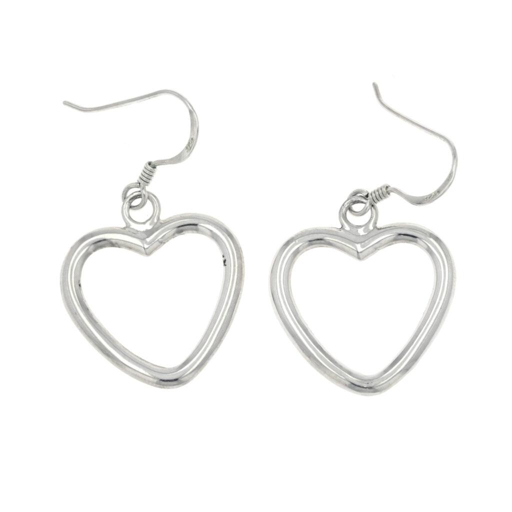 Sterling Silver Heart Earrings - #1